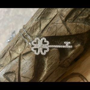 Alicia Bonnie Silver The One Zirconia Key Necklace